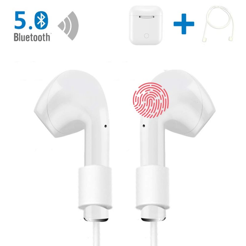 IEhotti Wireless Earbuds Bluetooh 5.0 True Wireless Headphones, Comfortable Wearing Mini Headset, Hi-Fi Stereo, Built-in HD Mic, Outdoor Portable Bluetooth Headphones with Charging Case