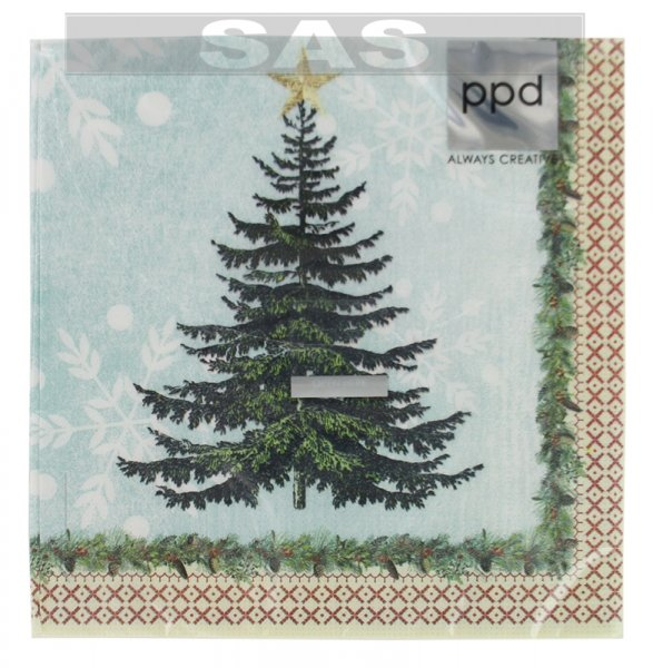 Անձեռոցիկ «ppd Always Creative Winter Lodge Tree»