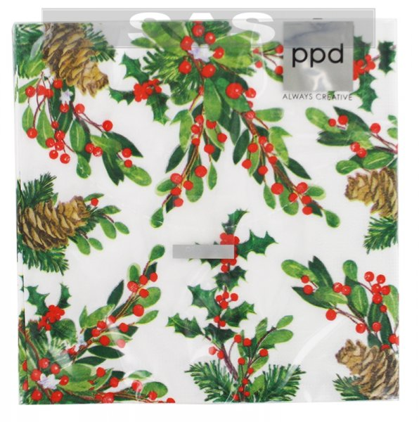 Անձեռոցիկ «ppd Always Creative Pine Cones & Holly»